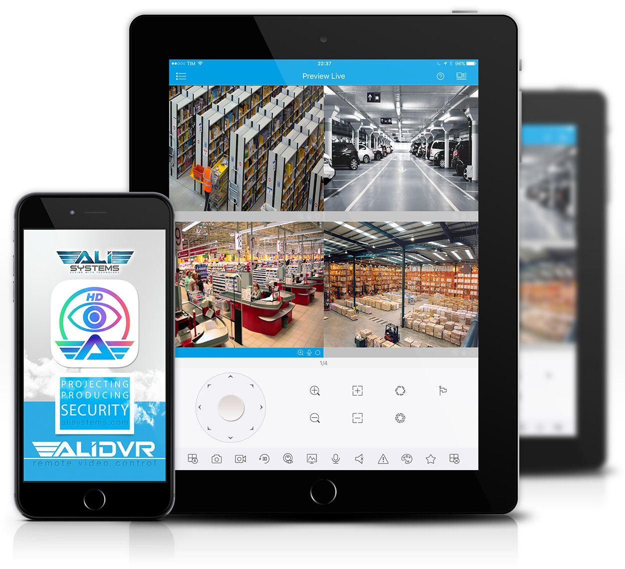 alidvr applicazione per telefono e tablet videosorveglianza